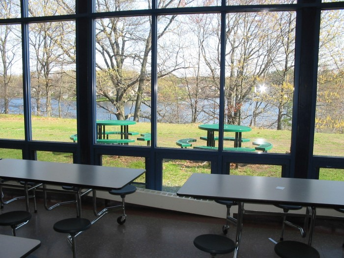 View of lake from cafeteria