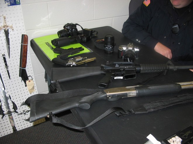 Grafton Police weapons