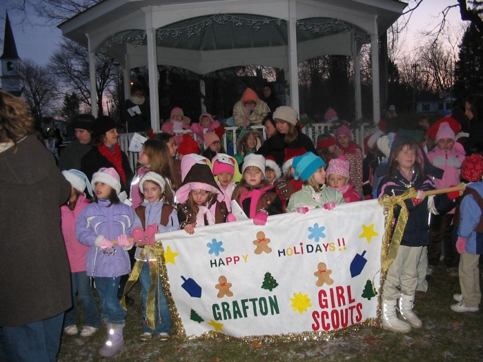 Santa lights - girl scouts