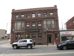 The Gardner News is in an historic brick corner building. The building shakes when the basement presses run.