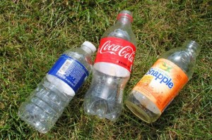 Remember, water and iced tea bottles don't have a deposit!