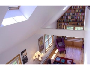 Realtor.com photo of the bookcase at 22 Leland St.