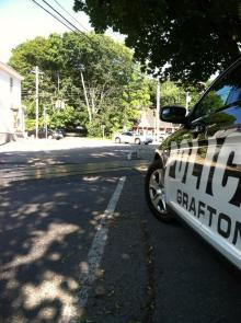 A Grafton Police cruiser monitors traffic. Photo by Grafton Police